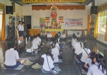 Ban Điều Hành GĐPT Huyện Krông Bông Tổ Chức  Khoá Tu Học Rèn Luyện Bậc Kiên Tại Chùa Phước Lâm