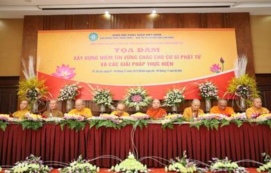 """Lâm Đồng: Tọa đàm """"Xây dựng niềm tin vững chắc cho cư sĩ Phật tử và các giải pháp thực hiện"""""""