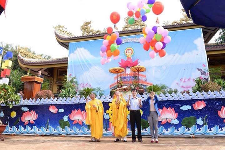 Ảnh Đại Lễ Phật Đản PL 2560 Các chùa phía Bắc thành phố Buôn Ma Thuột
