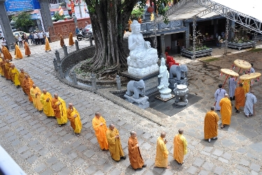 Lễ Giải Hạ An Cư PL.2559 và Cúng Dường Trai Tăng tại chùa Sắc tứ Khải Đoan.