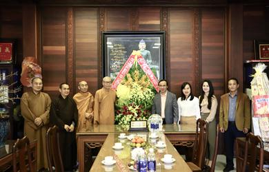 Lãnh đạo Công An tỉnh chúc tết Thường trực BTS PG tỉnh Đắk Lắk