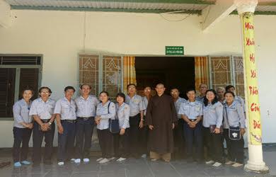 GĐPT tỉnh ĐăkLăk thăm và làm việc Ban điều hành GĐPT Huyện Krông Bông