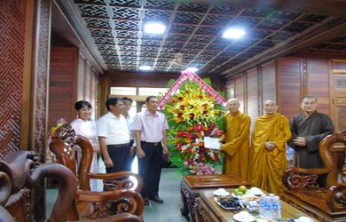 Lãnh đạo Tỉnh và các phái đoàn thăm & chúc mừng Đại lễ Phật đản Pl. 2563 – Vesak 2019