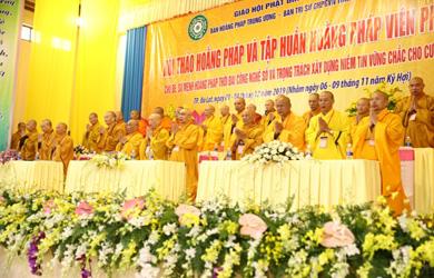Khai mạc Hội thảo Hoằng pháp và Tập huấn Hoằng pháp viên năm 2019 tỉnh Lâm Đồng