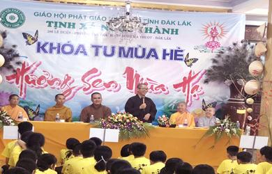 """Tịnh xá Ngọc Thành khai mạc Khoá tu mùa hè với chủ đề """"Hương Sen Mùa Hạ"""" TP. Buôn Ma Thuột"""