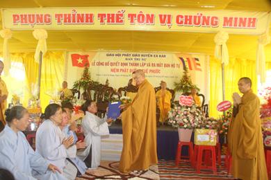 Lễ công bố quyết định thành lập Niệm Phật Đường Tuệ Phước