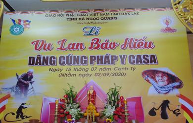 Đại Lễ Vu Lan cài hoa Hiếu hạnh PL 2564 Tịnh xá Ngọc Quang