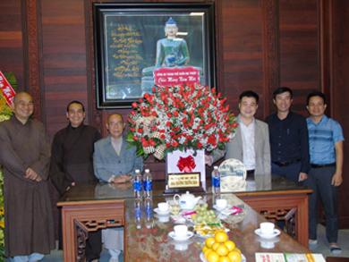 Đoàn lãnh đạo CA TP Buôn Ma Thuột thăm và chúc Tết BTS Phật giáo tỉnh