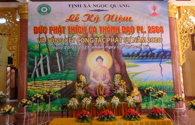 Tịnh xá Ngọc Quang lễ Phật Thành đạo & tổng kết Phật sự năm 2020