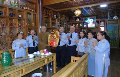 BHD Phân ban GĐPT Đăk Lăk thăm và chúc tết Chư tôn đức Lãnh đạo BTS Phật giáo tỉnh.