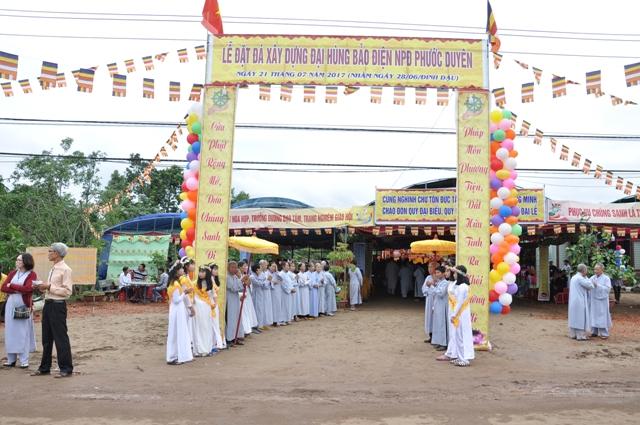 Lễ Đặt Đá Xây Dựng Đại hùng bảo điện Niệm Phật đường Phước Duyên huyện Krông Ana