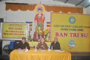 Ban Trị sự GHPGVN huyện KrôngBông Tổng kết công tác phật sự năm 2016