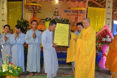 Lễ Công Nhận Chính Thức Niệm Phật Đường Mê Linh Và Ra Mắt Ban Hộ Tự NK. 2016 – 2021.