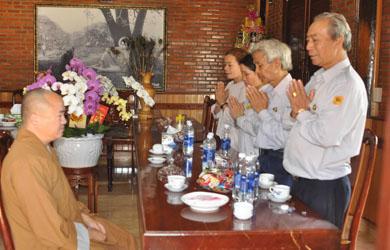Ban Điều Hành GĐPT thăm và Chúc Xuân Kỷ Hợi  Ban Trị Sự Phật giáo Huyện KrôngBông.