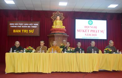 Ban Trị sự PG TP. Buôn Ma Thuột Hội Nghị Sơ Kết Phật Sự 2020