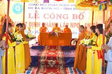 Thị Xã Buôn Hồ Có Thêm Một Đơn Vị Phật Giáo Cơ Sở - NPĐ An Tâm.