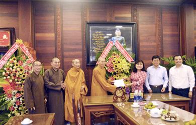 Đắk Lắk:Lãnh đạo Tỉnh chúc mừng Phật đản PL. 2564- DL. 2020