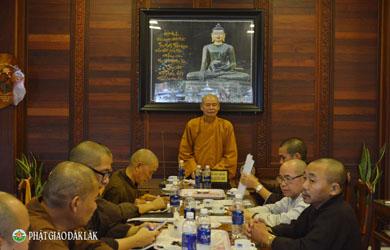 Thường trực Ban Trị sự Phật giáo tỉnh họp định kỳ hằng tháng