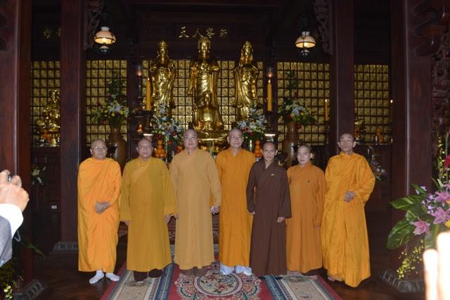 BTC Đại lễ kỷ niệm 35 năm thành lập GHPGVN và khánh thành chùa Sắc Tứ Khải Đoan đón tiếp phái đoàn trung ương GHPGVN.