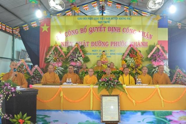 Lễ Công Nhận Chính Thức Niệm Phật Đường Phước Khánh Xã EaKuang – Huyện Krông Păk