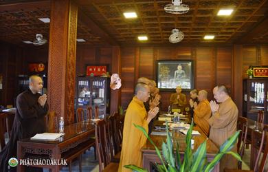 Họp Thường trực BTS Phật giáo tỉnh ĐakLak