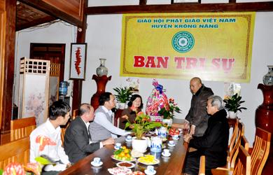 Ban Trị sự Phật giáo Krông Năng Thăm chúc tết các cơ quan trong huyện