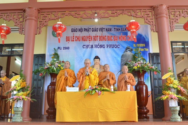 Lễ chú nguyện rót đồng Đúc Đại Hồng Chung chùa Hồng Phước - Tp.Buôn Ma Thuột