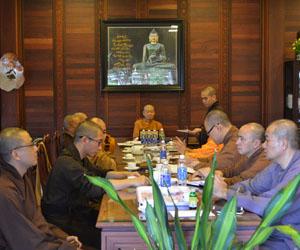 Họp định kỳ tháng 12/2018 của Thường trực Ban Trị sự Phật giáo tỉnh