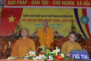 Huyện Lăk Tổ Chức Đại Hội Đại Biểu Phật Giáo Lần Thứ I Nhiệm Kỳ 2016 – 2021