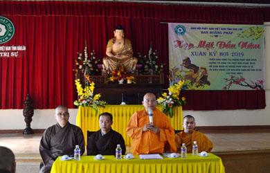 Ban Hoằng pháp Phật giáo tỉnh ĐăkLăk họp mặt đầu năm Kỷ Hợi.