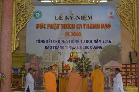Lễ Kỷ Niệm Phật Thành Đạo PL.2560 và Tổng kết sinh hoạt Phật sự năm 2016.