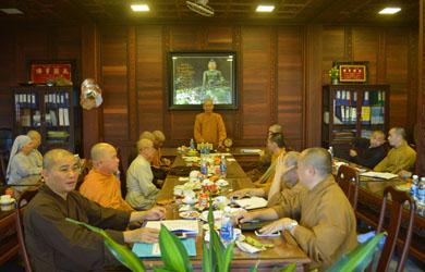 Thường trực Ban Trị sự Phật giáo tỉnh  họp cuối năm tháng 12 /Mậu Tuất