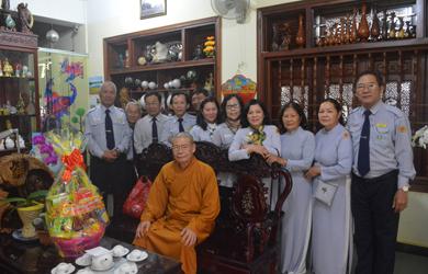 GĐPT thăm và chúc tết Chư Tôn đức Ban Trị sự Phật giáo tỉnh Đăk Lăk