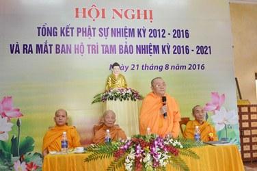 Tịnh Xá Ngọc Quang Tổng Kết Nhiệm Kỳ & Ra Mắt Ban Hộ Trì Tam bảo NK 2016 – 2020