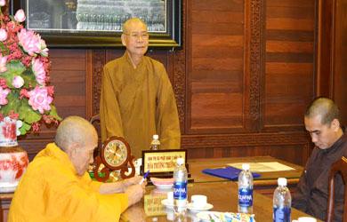 Phiên họp Thường trực Ban Trị sự  Phật giáo tỉnh Đak Lak