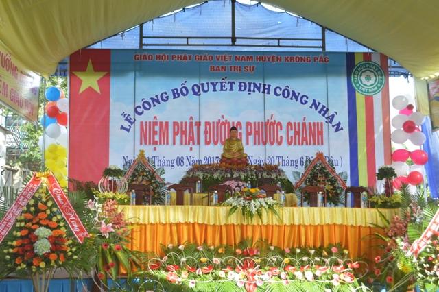 Lễ Công Nhận Chính Thức Niệm Phật Đường Phước Chánh huyện Krông Pắc