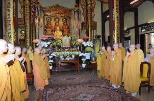 Thiền viện Vạn Hạnh tổ chức lễ tưởng niệm và thọ tang cố trưởng lão HT. Thích Chơn Thiện