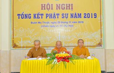 Hội nghị Tổng kết Ban TTTT Phật giáo Đắk Lắk năm 2019
