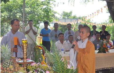 Niệm Phật Đường Phước Bảo, xã YangReh tổ chức lễ Phật đản PL2562–DL2018