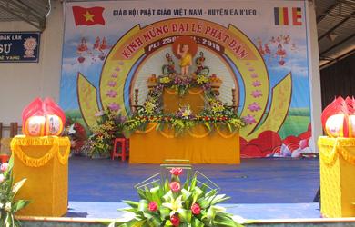 BTS Phật giáo EaHleo Trang nghiêm tổ chức Đại lễ Phật đản  PL. 2562.