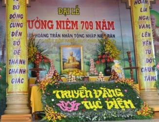 Lễ tưởng niệm 709 năm ngày Phật hoàng Trần Nhân Tông nhập niết bàn