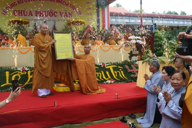 Lễ bổ nhiệm trụ trì Chùa Phước Vân huyện Krông Bông