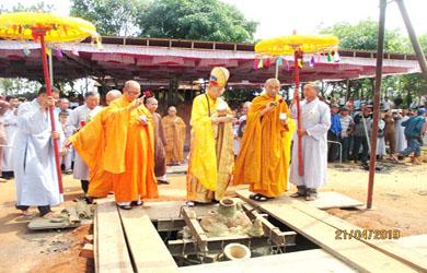 Lễ đúc Đại Hồng chung chùa Quảng Giang huyện Ea H'Leo