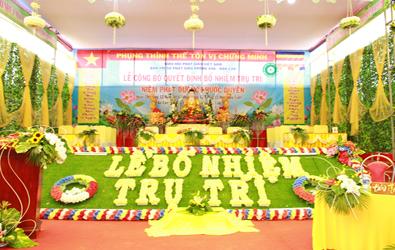Lễ bổ nhiệm trụ trì NPĐ Phước Duyên huyện Krông Ana