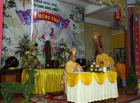 Chùa Hoa Lâm tổ chức lễ mừng thọ cho Phật tử cao niên trong mùa Vu lan báo hiếu PL 2561
