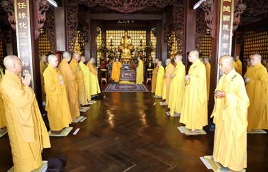 Phật giáo Đắk Lắk trang nghiêm cử hành lễ tác pháp An cư kiết hạ PL 2564 - DL 2020