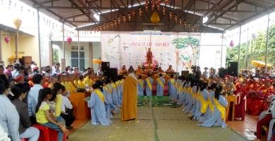Lễ Dâng Pháp Y Và Lễ Mừng Thọ Tại Chùa Tam Giang  Huyện Krông Năng