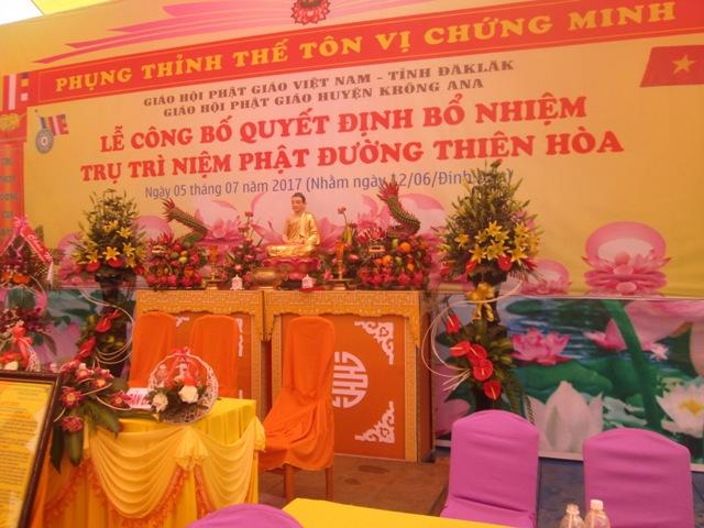 Lễ Bổ Nhiệm Trụ Trì Niệm Phật Đường Thiện Hòa huyện Krông Ana