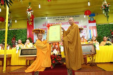 Lễ bổ nhiệm trụ trì chùa Lâm Tỳ Ni – TP Buôn Ma Thuột