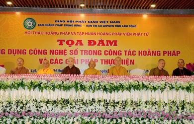 Lâm Đồng: Hội thảo Hoằng pháp năm 2019 đã chính thức bế mạc